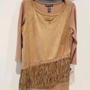 Inc fringe sweater